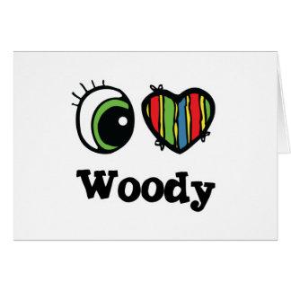 I Liebe (Herz) Woody Karten