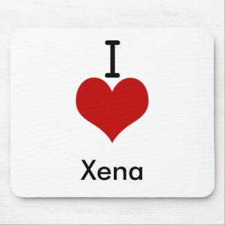 I Liebe (Herz) Xena Mousepads