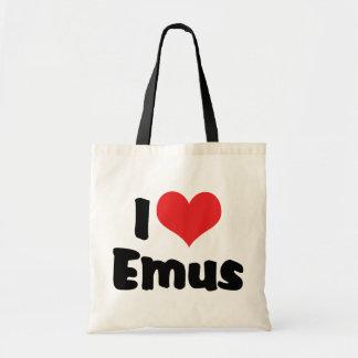 I Liebe-HerzEmus - Emu-u. Ostrich-Liebhaber Tragetasche