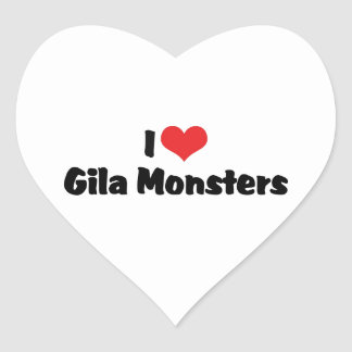 I Liebe-Herzgila-Monster - Eidechsen-Liebhaber Herz-Aufkleber