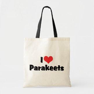 I Liebe-HerzParakeets - Papageien-Vogel-Liebhaber Tragetasche