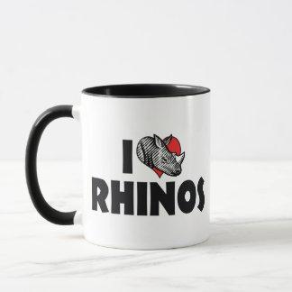 I Liebe-HerzRhinos - Nashorn-Liebhaber Tasse