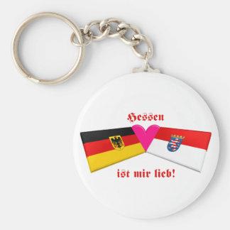 I Liebe-Hessen ist-MIR lieb Standard Runder Schlüsselanhänger
