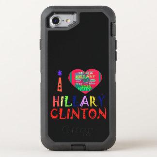 I Liebe Hillary für USA-Präsidentenwahl OtterBox Defender iPhone 8/7 Hülle
