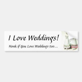 I Liebe-Hochzeiten! Autoaufkleber