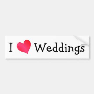 I Liebe-Hochzeiten Autoaufkleber