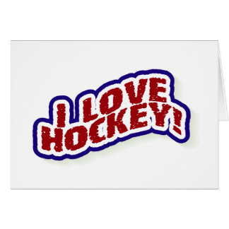 I Liebe-Hockey Grußkarte