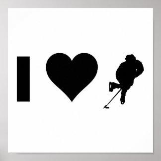 I Liebe-Hockey Poster
