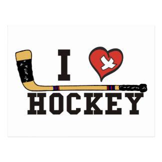 I Liebe-Hockey Postkarte