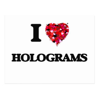 I Liebe-Hologramme Postkarten