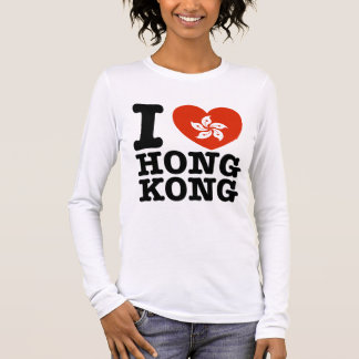 I Liebe Hong Kong Langarm T-Shirt