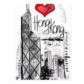I Liebe Hong Kong Postkarte