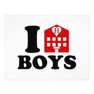 I Liebe-Hotel-Jungen Flyer