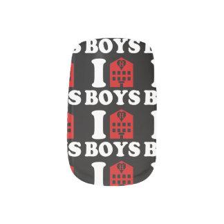 I Liebe-Hotel-Jungen Minx Nagelkunst