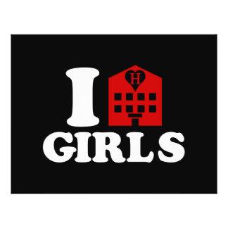I Liebe-Hotel-Mädchen Flyer