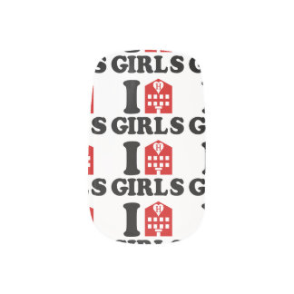 I Liebe-Hotel-Mädchen Minx Nagelkunst