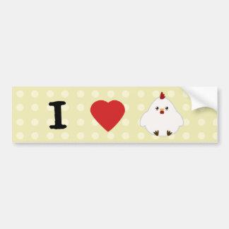 I Liebe-Hühner Autoaufkleber