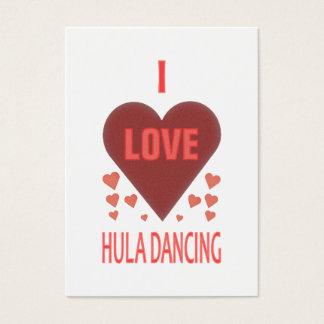 I Liebe Hula Tanzen Visitenkarte