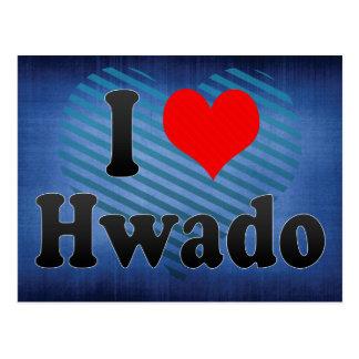 I Liebe Hwado, Korea Postkarte