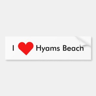 I Liebe Hyams Strand Autoaufkleber