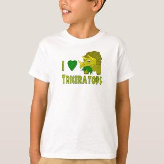 I Liebe(i-Herz) Triceratops-niedlicher Dinosaurier T-Shirt