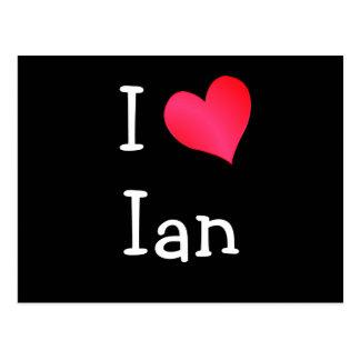 I Liebe Ian Postkarte