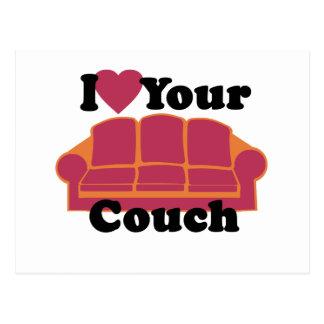 I Liebe Ihre Couch Postkarte