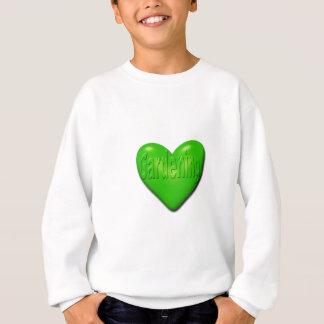 I Liebe-im Garten arbeitendes grünes Herz Sweatshirt