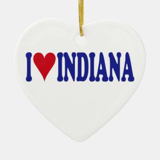 I Liebe Indiana Keramik Ornament