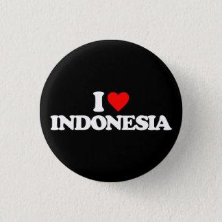 I LIEBE INDONESIEN RUNDER BUTTON 2,5 CM