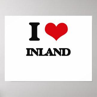 I Liebe inländisch Posterdruck