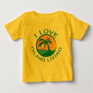 I Liebe-Insel-lebende Produkte Baby T-shirt