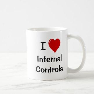 I Liebe-interne Kontrollen - Doppeltes versah mit Kaffeetasse