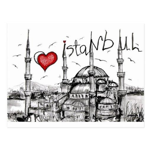 I Liebe Istanbul Postkarten