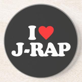 I LIEBE J-RAP GETRÄNKEUNTERSETZER