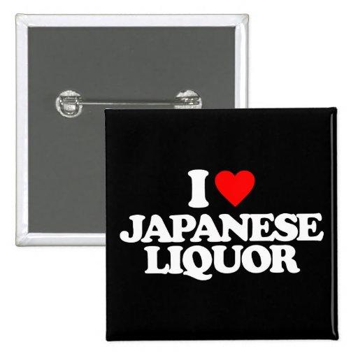 I LIEBE-JAPANER-ALKOHOL ANSTECKNADELBUTTONS