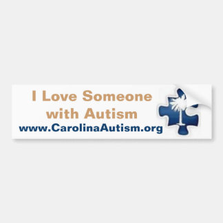 I Liebe jemand mit Autismus Autoaufkleber