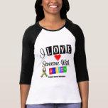 I Liebe jemand mit Autismus Tshirts