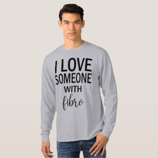 I Love Someone With Fibro Men's Shirt