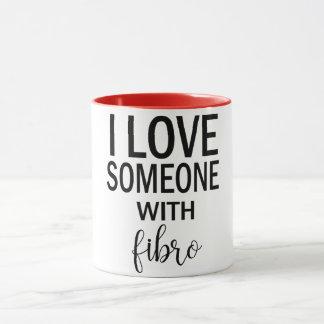 I Liebe jemand mit der Faser Kaffee-Tasse Tasse