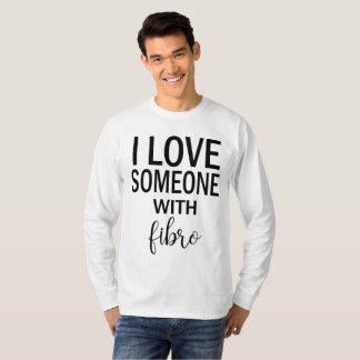 I Liebe jemand mit der langen Hülse der Faser T-Shirt