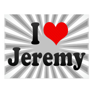 I Liebe Jeremy Postkarte