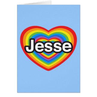 I Liebe Jesse. Liebe I Sie Jesse. Herz Karte