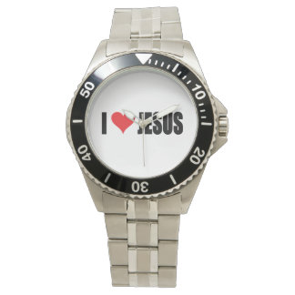 I Liebe-Jesus-Uhr Armbanduhr