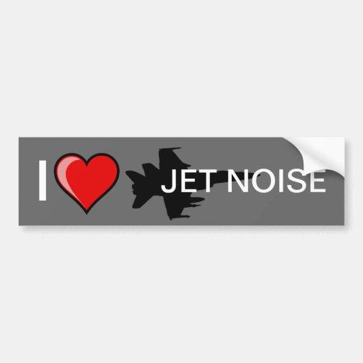 I Liebe-Jet-Geräusche Autosticker