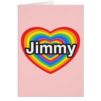 I Liebe Jimmy. Liebe I Sie Jimmy. Herz Karte