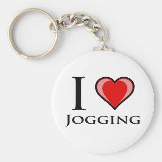 I Liebe-Joggen Schlüsselanhänger