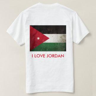 I Liebe-Jordanien-Flaggen-T - Shirt