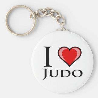 I Liebe-Judo Standard Runder Schlüsselanhänger