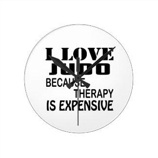 I Liebe-Judo, weil Therapie teuer ist Runde Wanduhr